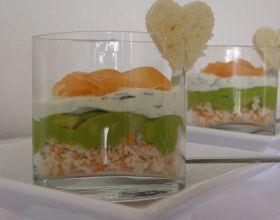 Verrine de surimi au carré frais