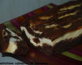 Marbré brownies au chocolat & cheesecake au lemon curd