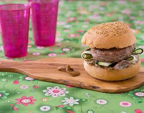 Burger de veau aux girolles