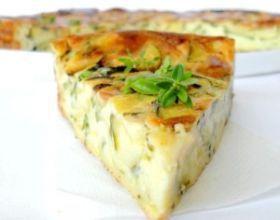 Clafoutis léger aux courgettes et fromage de chèvre