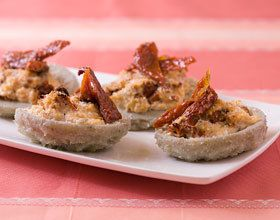 Coeurs d'artichauts gratinés au fromage de chèvre frais