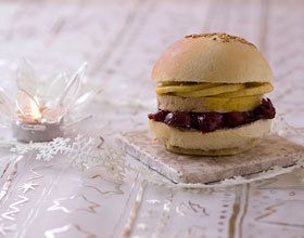 Burger de luxe au foie gras