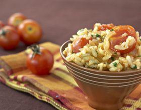 Risotto aux tomates cerises, paprika et parmesan