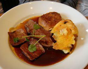 Roast-beef à la sauce de légumes et brandy (pour 4 personnes)