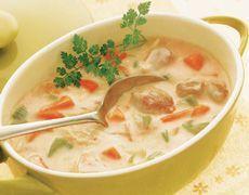 Soupe au poulet et au riz