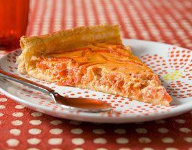 Tarte aux poivrons rouges et tomates