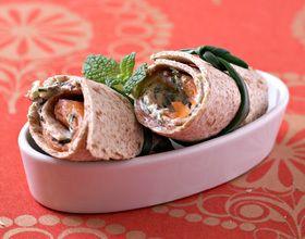 Wraps au saumon et tzatziki