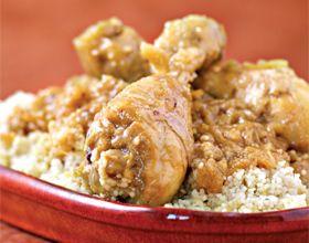 Couscous de poulet aux oignons