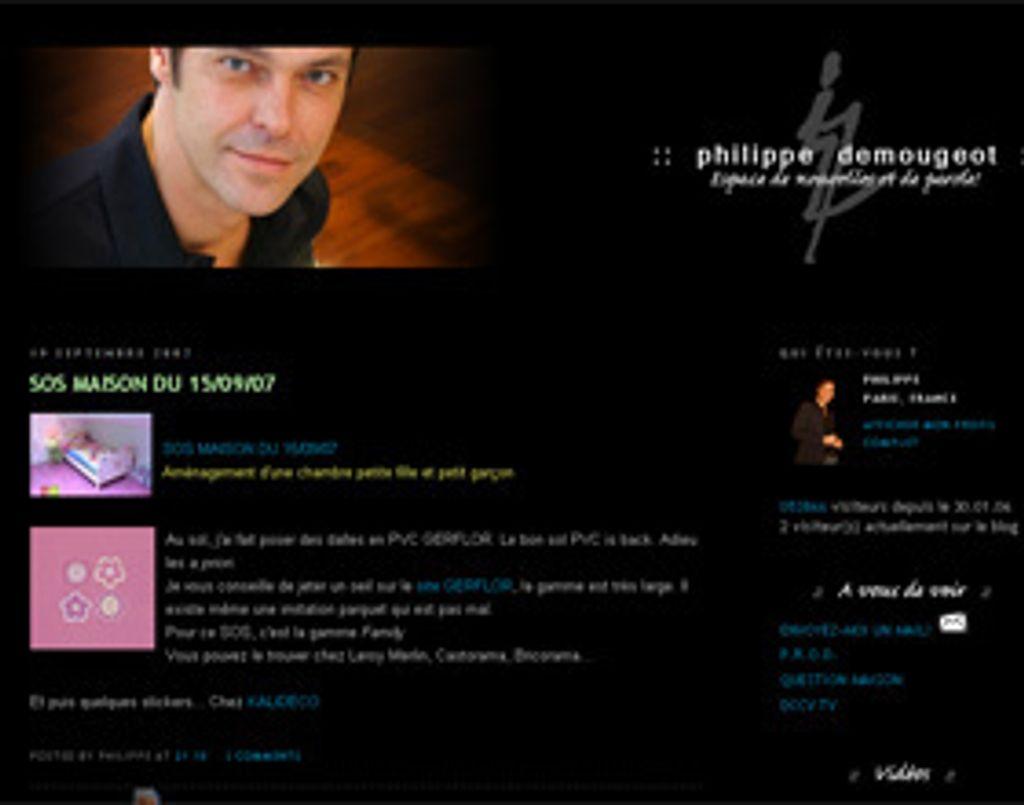 Philippe Demougeot se dévoile sur son blog