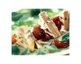 Brochettes de foie gras aux raisins !