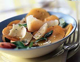 Salade d'abricots au parmesan