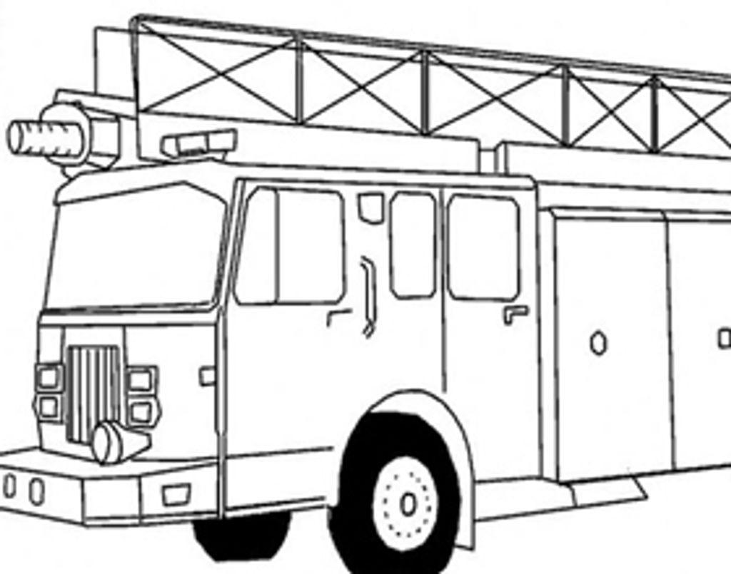 Coloriage : le camion de pompier