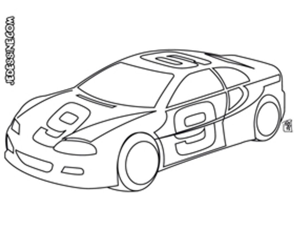 Coloriage : la voiture de course