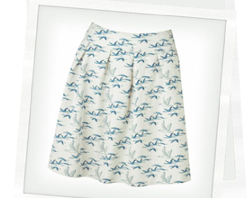 Coup de coeur mode : une jupe imprimé gazouillis à moins de 40 euros !