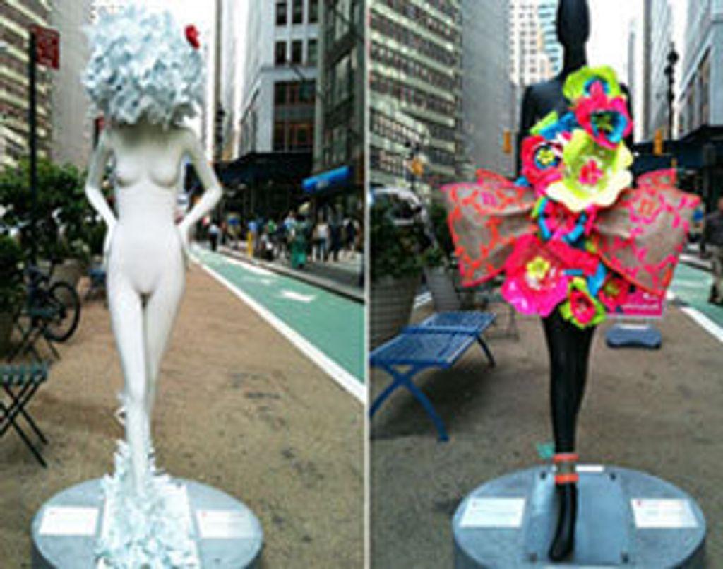 """32 mannequins """"défilent"""" sur le trottoir des rues de New-York !"""