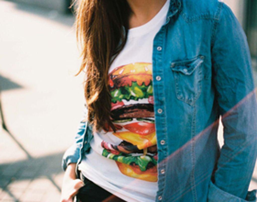 Des t-shirts à l'effigie des meilleures recettes de junk food