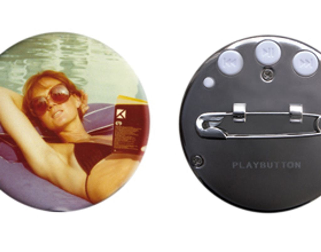 Playbutton, mon badge vintage musical