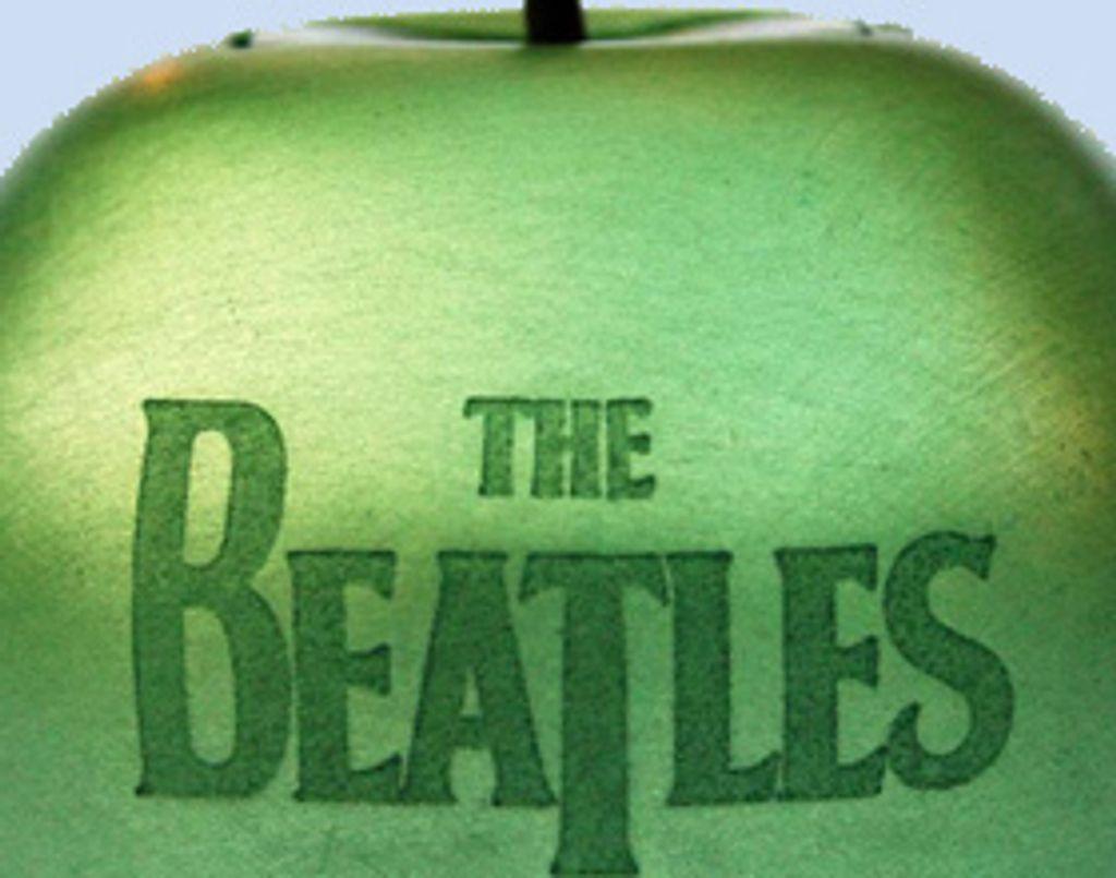 Les Beatles transformés en jolie petite pomme verte !