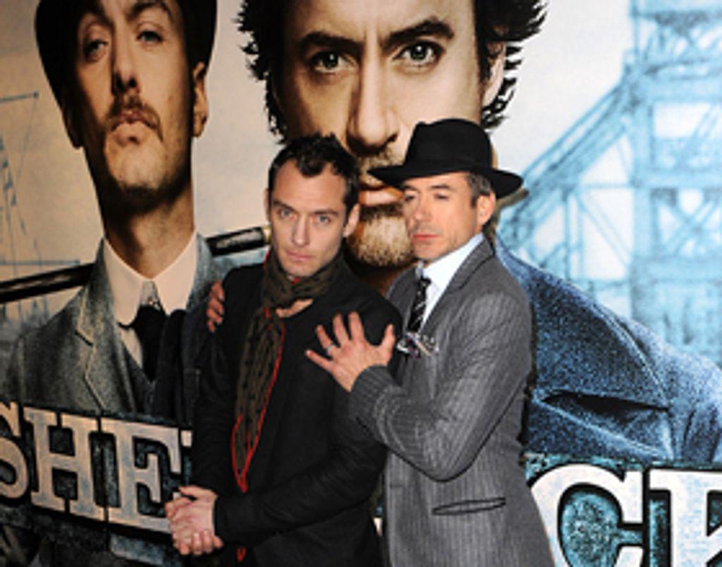 Jude Law et Robert Downey Jr à l'avant-première de Sherlock Holmes